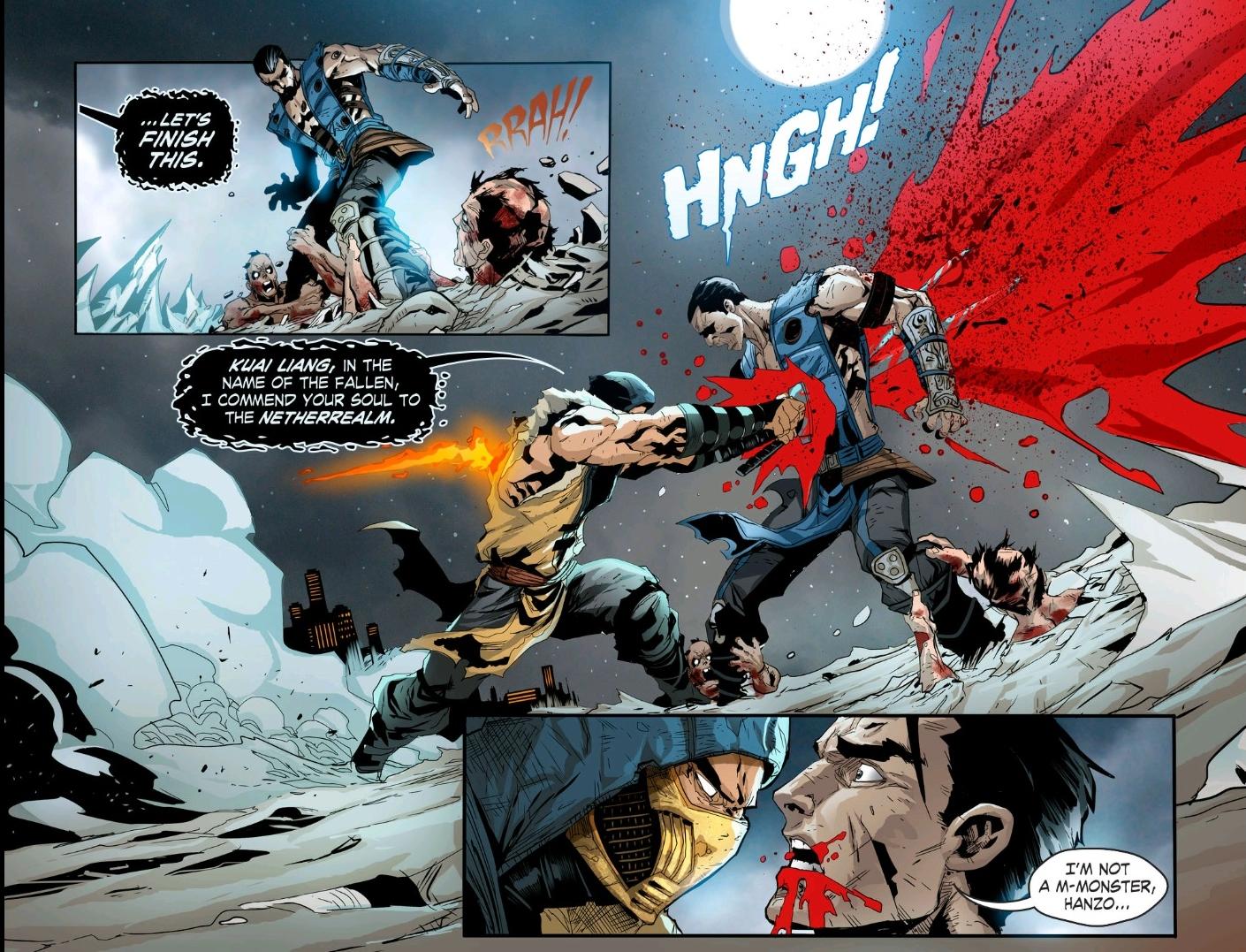 A Battle Of Ice And Fire Sub Zero Vs Scorpion Mortal Kombat