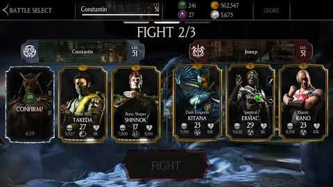 Shao Kahn in MKX mobile (1.15), his brutality and X-Ray