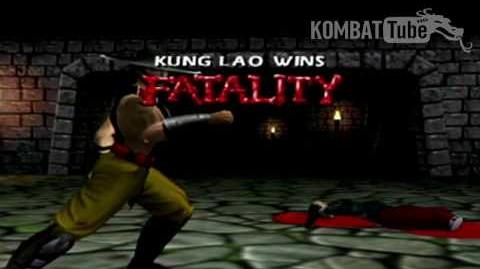 "Gold Kung Lao ""Hat Slices"" Fatality"