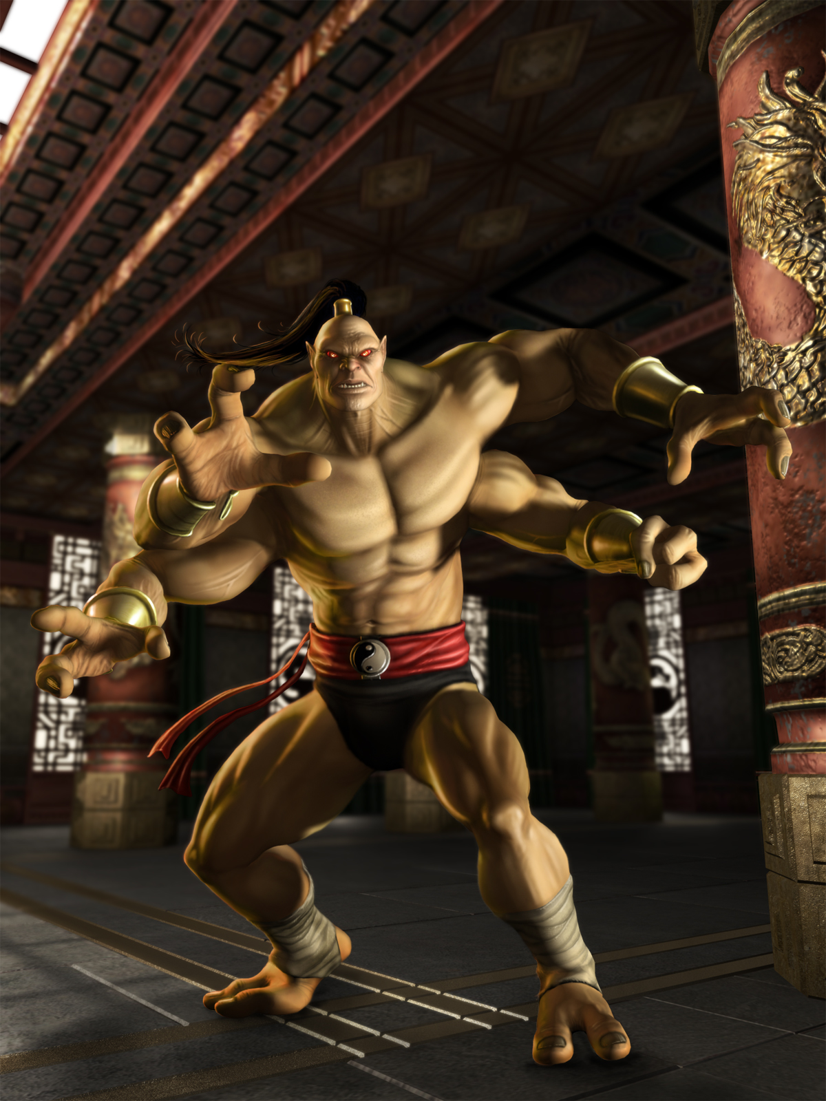 image - goro shaolin monks | mortal kombat wiki | fandom powered