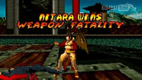 GBA MK TE Nitara Weapon Fatality