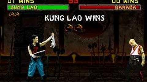 Mortal Kombat II - Friendship- Kung Lao