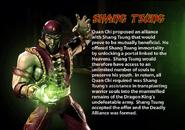 Shang Tsung. MKDA bio 2