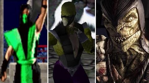 Reptile All Victory Poses - MK1 to MKX