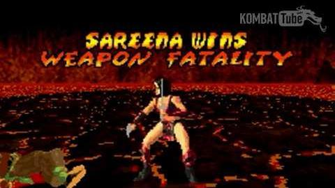 GBA MK TE Sareena Weapon Fatality