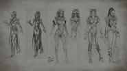 MK Mileena Concept Art 3