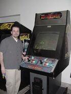John Tobias at the arcade