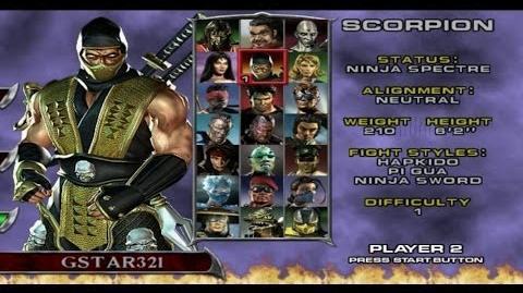 Video - Mortal Kombat Deadly Alliance - Playthrough (PS2