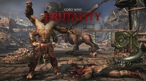 Mortal Kombat X Goro - Speed Bag (Dragon Fangs Variation) Brutality