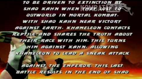 MK III Ending- KHAMELEON
