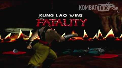 "Gold Kung Lao ""Decapitation"" Fatality"