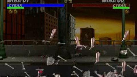 Mortal Kombat 3 - Fatality 1 - Cyrax SelfDestruct