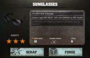WWE Immortals Johnny Cage Sunglasses Gear Card