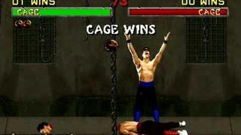 Mortal Kombat II - Fatality 1 - Johnny Cage
