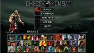 MK Unchained Chess Kombat Select Screen