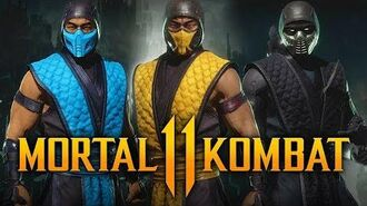MORTAL KOMBAT 11 - NEW Klassic Arcade Ninja Skin Pack Gameplay w ALL Skins! (Kombat Pack DLC)