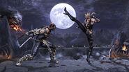Mortal Kombat 2011 Sonya Blade vs Scorpion Pit