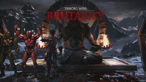 Mortal Kombat XL Triborg - Homing Missile Brutality