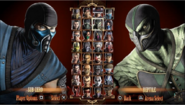 The complete character select with DLC (PS3)