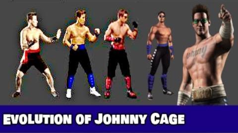 Evolution of Johnny Cage in Mortal Kombat (1992 - 2017)