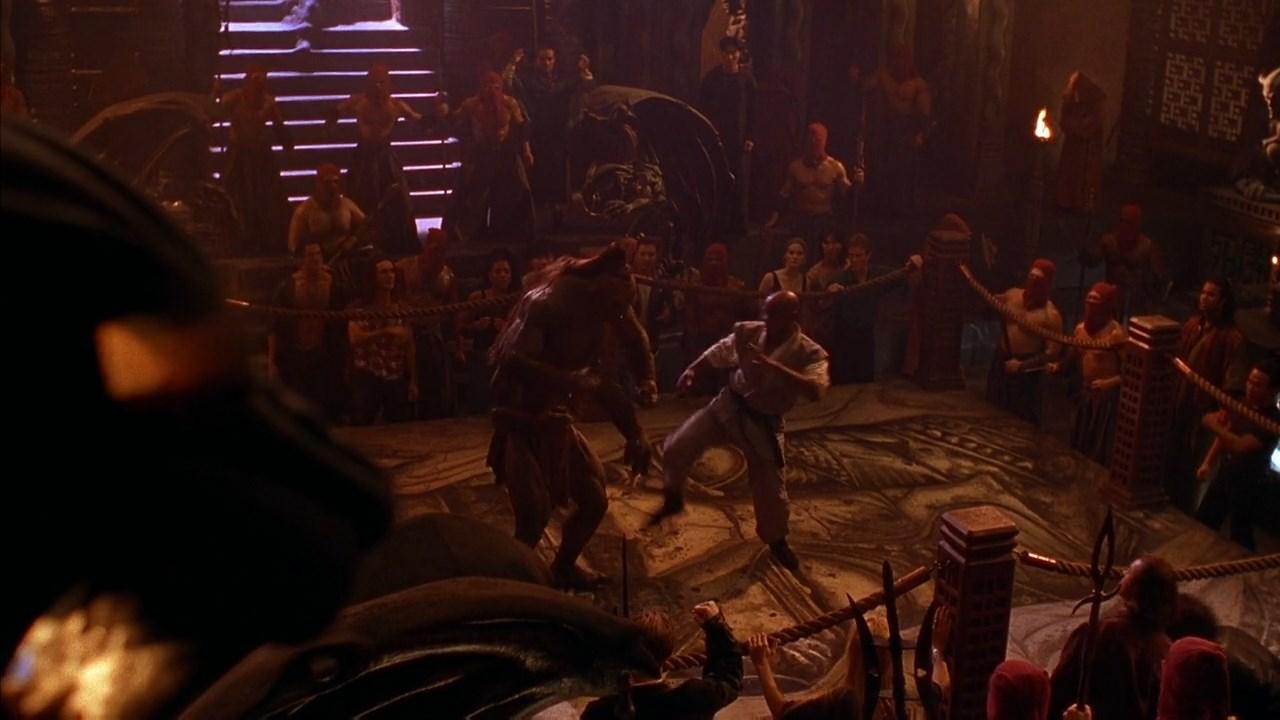 mortal kombat movie goro vs johnny cage