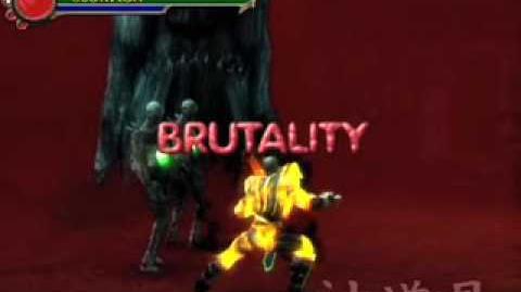 Mortal Kombat Shaolin Monks Scorpion's Brutality