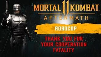 Mortal Kombat 11 Aftermath - RoboCop Thank You for Your Cooperation Fatality