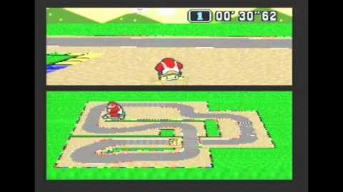 """Super Mario Kart WR 1'07""""85 Mario Circuit 2"""