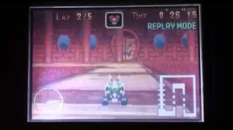 """MK Super Circuit WR 1'10""""86 SNES Bowser Castle 1"""