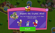Explore the Crystal Mine! in-game ad