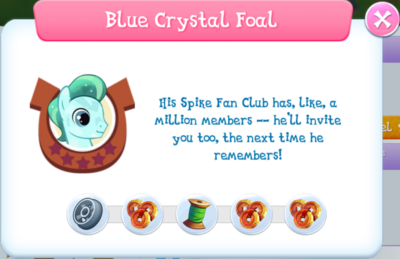 Blue Crystal Foal album description