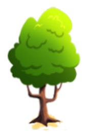 Sturdy peridot tree