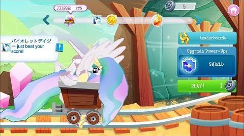 MLP Gameloft App - Minecart Glitch