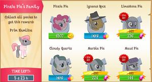 Pinkie Pie's Family Collection Promo