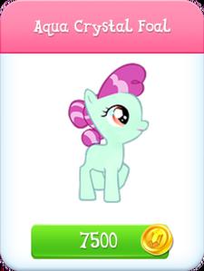 Aqua Crystal Foal store unlocked