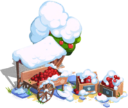 Apple Market Cart Snow