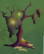 Dry tree on halloween