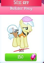 Builder pony store