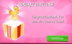 Mr. Carrot Cake Won in EG