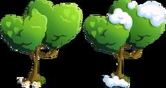 Double Heart Shaped Tree