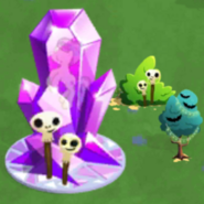 Purple crystal on halloween