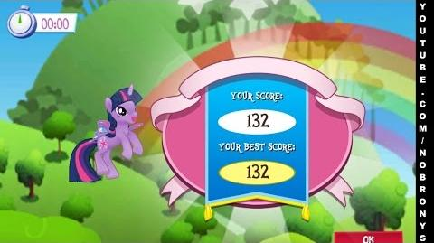 Twilight Sparkle in Clear the Skies Game, My Little Pony Friendship is Magic. MLP FiM @Gameloft