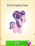 Pink crystal foal