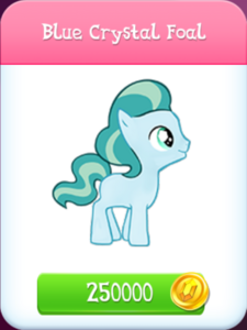 Blue Crystal Foal store unlocked