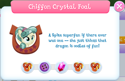 Chiffon Crystal Foal album description