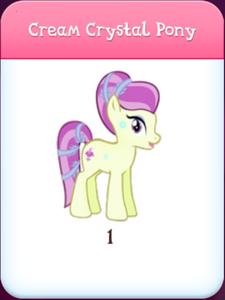 Cream Crystal Pony inventory