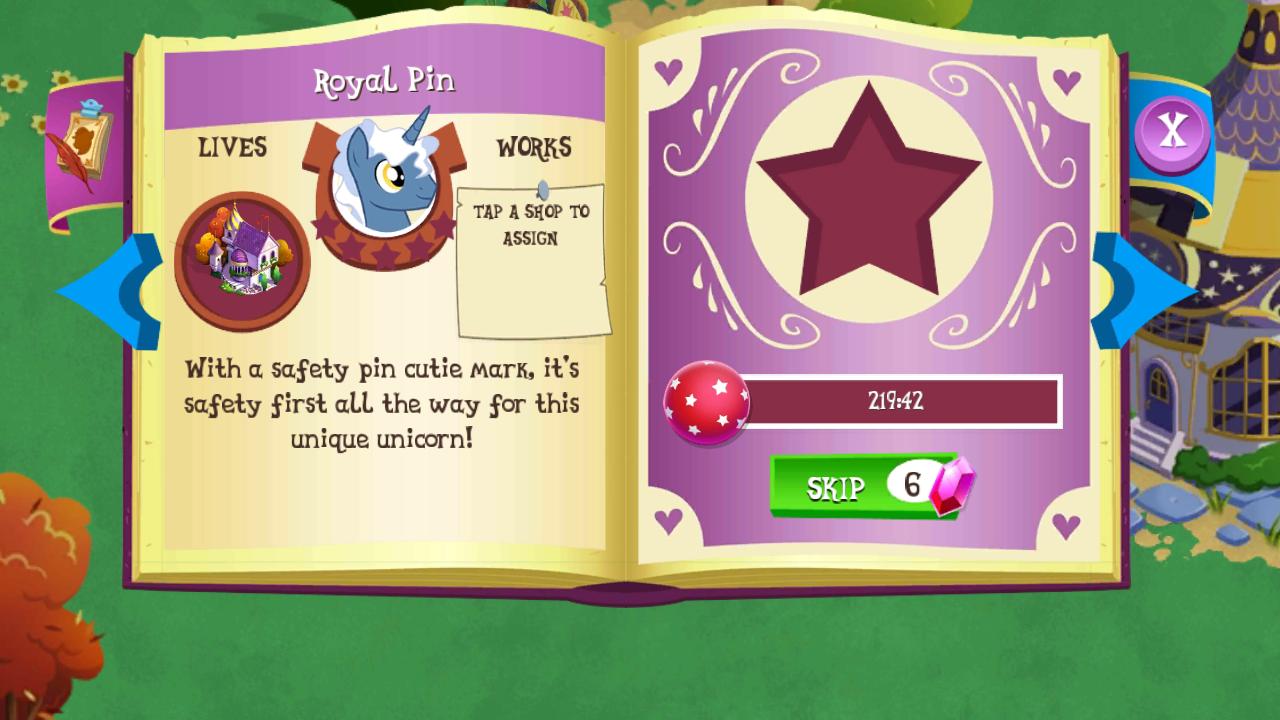 royal pin the my little pony gameloft wiki fandom powered by wikia