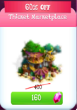 Thicket marketplace discounted