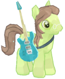 Guitarist Pony Character Image