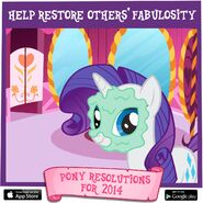 Pony Resolutions 2014 Rarity